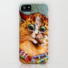"""Louis Wain's Cats """"Tom Smith's Crackers"""" iPhone Case"""