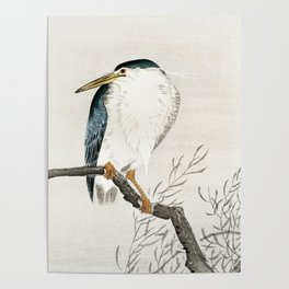Ohara Koson - Quack on erratic branch Poster