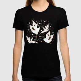 Origami Crane Metamorphosis (Blue) T-shirt
