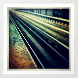 Pigeon waiting on the train  Art Print