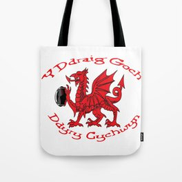 The Red Dragon Inspires Action Tote Bag