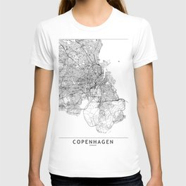 Copenhagen White Map T-shirt
