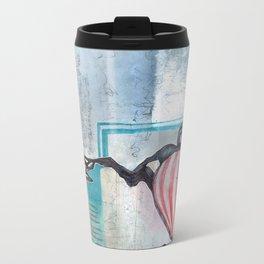 A Contrast Of Currents Metal Travel Mug