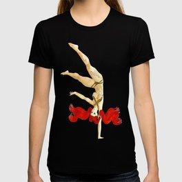 Pin up Alt Model Girls Short Hair Handstand Suicide Pinups T-shirt
