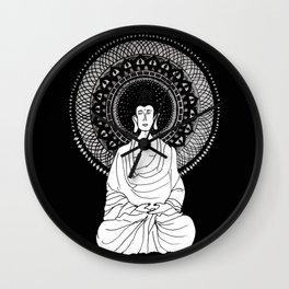 Buddha and Mandala Wall Clock
