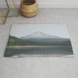Trillium Lake Sunrise - Nature Photography Rug