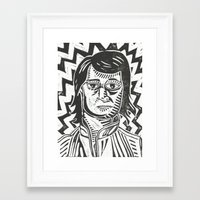 snl Framed Art Prints featuring MacGruber by Peter Dunne
