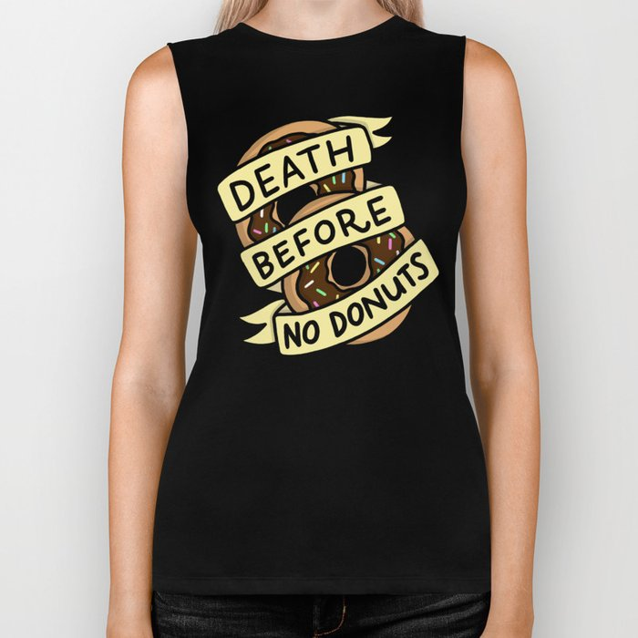 Death Before No Donuts Biker Tank