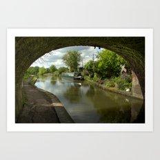Barge thro the bridge Art Print