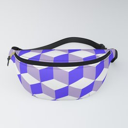 Diamond Repeating Pattern In Nebulas Blue and Grey Fanny Pack