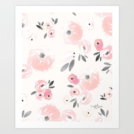 Sweet Blush Blooms Art Print
