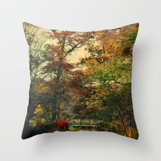 Vintage Forest Throw Pillow