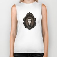 edgar allan poe Biker Tanks featuring Edgar Allan Poe by Designs By Misty Blue (Misty Lemons)