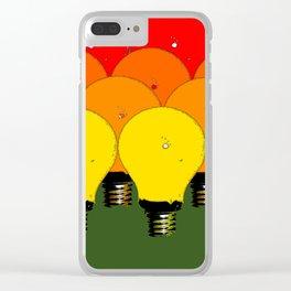 LIGHTBULBS 1 Clear iPhone Case