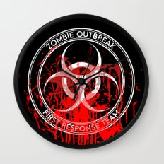 Zombie Outbreak First Response Team Wall Clock