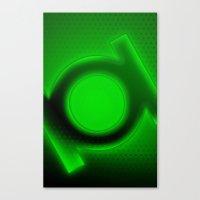 green lantern Canvas Prints featuring Green Lantern by Kosept