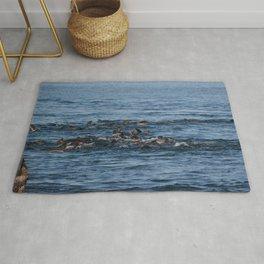 Vivacious Sea Lions Rug