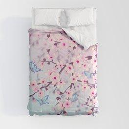 Cherry Blossom Landscape Comforters