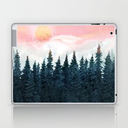 Forest Under the Sunset Laptop & iPad Skin