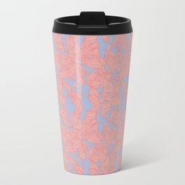 Trailing Curls // Pink & Blue Pastels Travel Mug