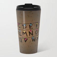 Stranger things ABC Metal Travel Mug