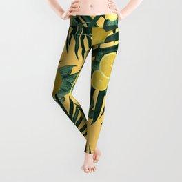 Summer Lemon Twist Jungle #3 #tropical #decor #art #society6 Leggings