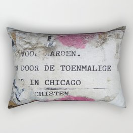 Urban poetry Rectangular Pillow