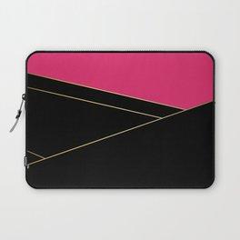 Angelica . Raspberry , black Laptop Sleeve
