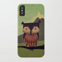 yetiland iPhone & iPod Cases featuring Owl by Yetiland