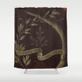"Leonardo Da Vinci ""Wreath of Laurel, Palm, and Juniper with a Scroll inscribed Virtutem Forma Decor"" Shower Curtain"