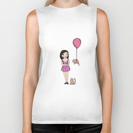 The cat balloon Biker Tank