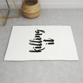 Typography Poster, Printable Art, Killing It Phrase, Black and White, Typography Print, Killing It, Rug