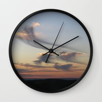 ships Wall Clocks featuring cloud ships by bstudio