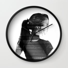 She was lost in her longing to understand. Wall Clock