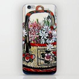 """Basket of Flannel Flowers"" by Margaret Preston iPhone Skin"