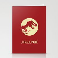 jurassic park Stationery Cards featuring Jurassic Park by :: Fan art ::