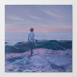 Her Steady Horizon - Surf Canvas Print