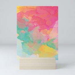 colored explosion Mini Art Print