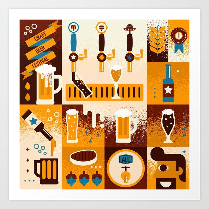 Beer Concept Art Print