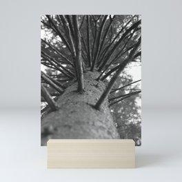 tree black and white photo Mini Art Print