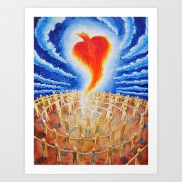 PHX Ascends, Spreading Love Like A Wildfire Art Print