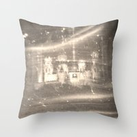 russia Throw Pillows featuring Stained Russia by Jeffrey J. Irwin