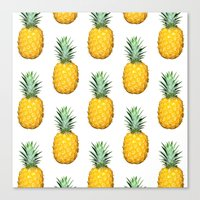 pinapple Canvas Prints featuring Big Pineapples by CumulusFactory