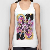 holographic Tank Tops featuring alien hunters from the flower planet by STORMYMADE