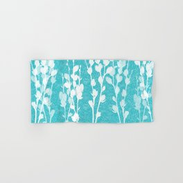 Pussywillow Silhouettes – Teal Texture Hand & Bath Towel