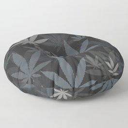 Marijuana Cannabis Weed Pot Grey Tones Floor Pillow