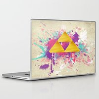triforce Laptop & iPad Skins featuring Splash Triforce by Brittany