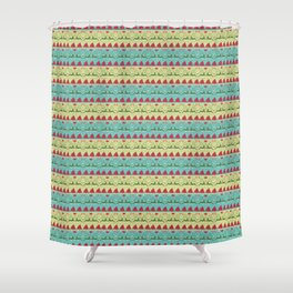 This holiday collection captures the magic of the season in whimsical illustrations and vibrant color. Shower Curtain