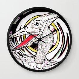 Inked Pterodactyl Wall Clock