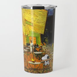 Snoopy meets Van Gogh Travel Mug